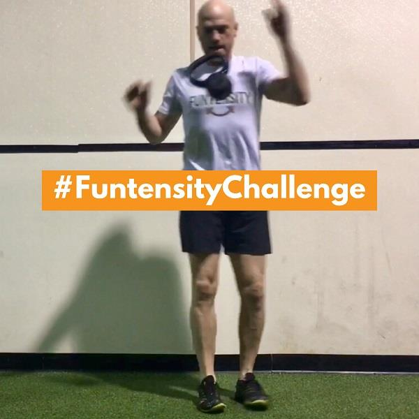 Funtensity Challenge - Side Lunge Catch